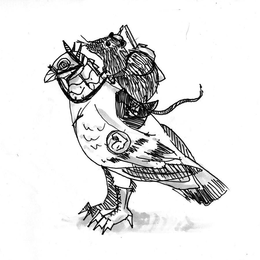 Ann Mis Art Battle Pigeon And Rat